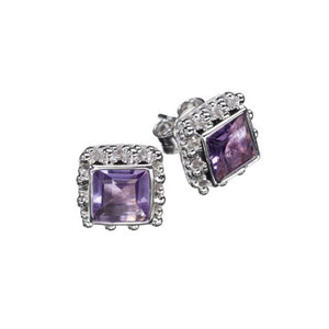 Candy Amethyst Silver Earrings