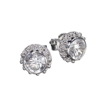 Cloé Zircon Silver Earrings
