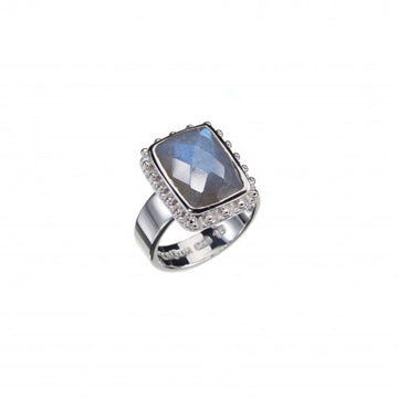 Cherry Labradorite Silver Ring
