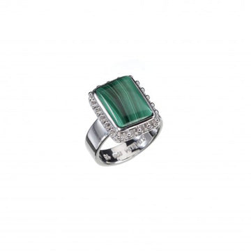 Cherry Malachite Silver Ring