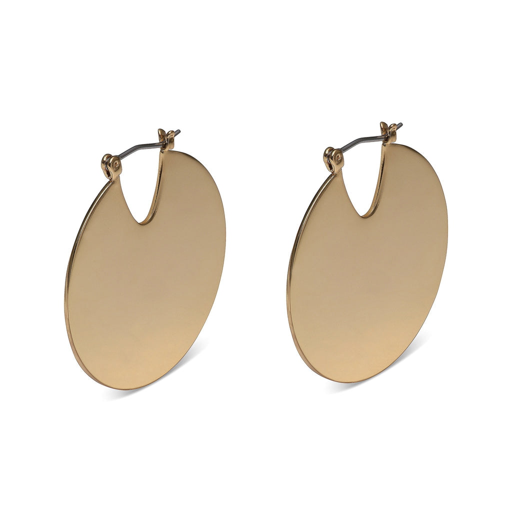 Modern Satin Gold Earrings