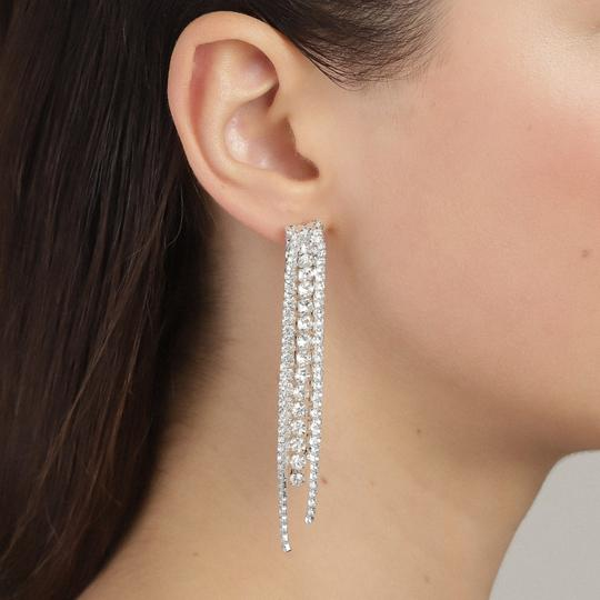 Rachel Silver Crystal Earrings