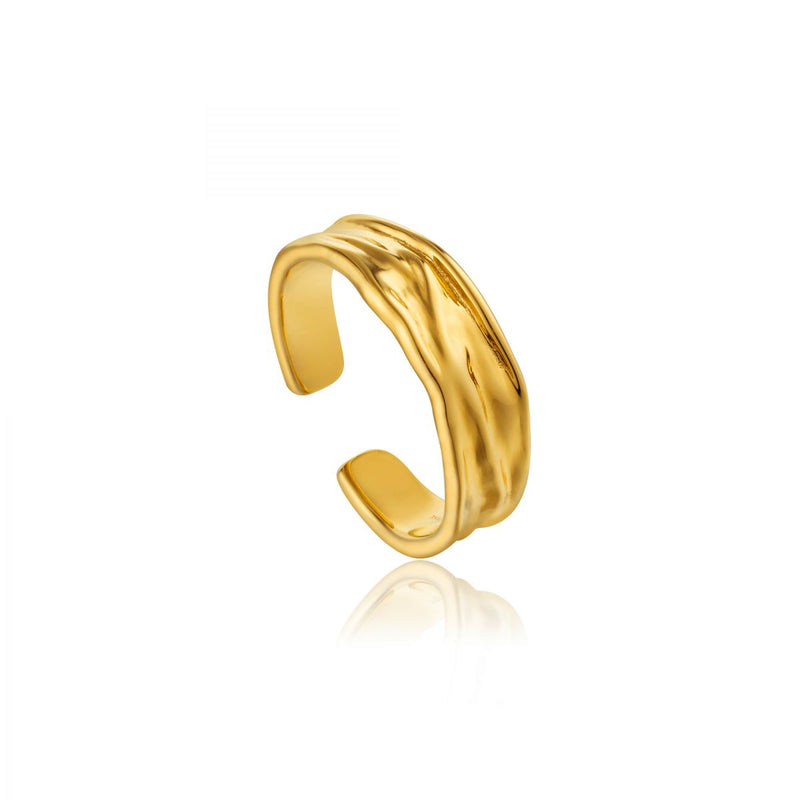 Crush Gold Adjustable Ring
