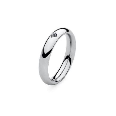 QUDO SMALL Basic Ring, Silver