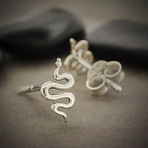 Sterling Silver Tiny Snake Earrings