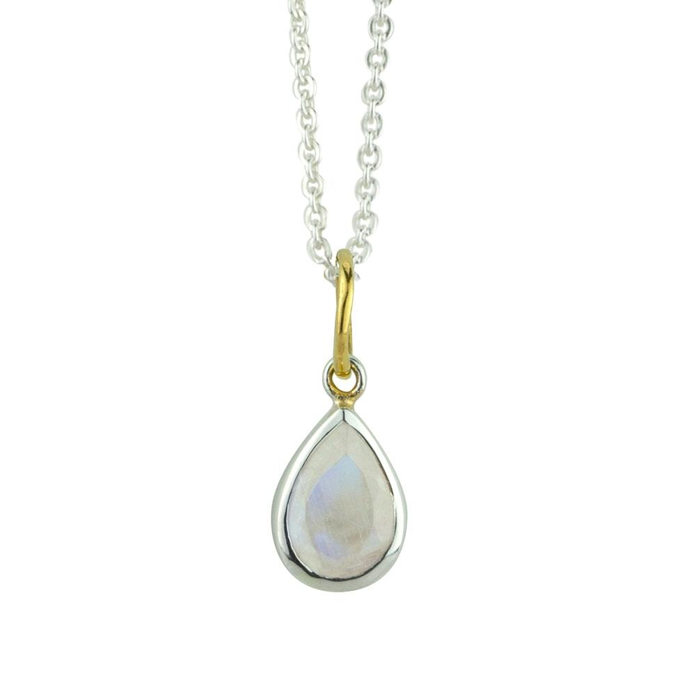 Pendulum Moonstone Necklace