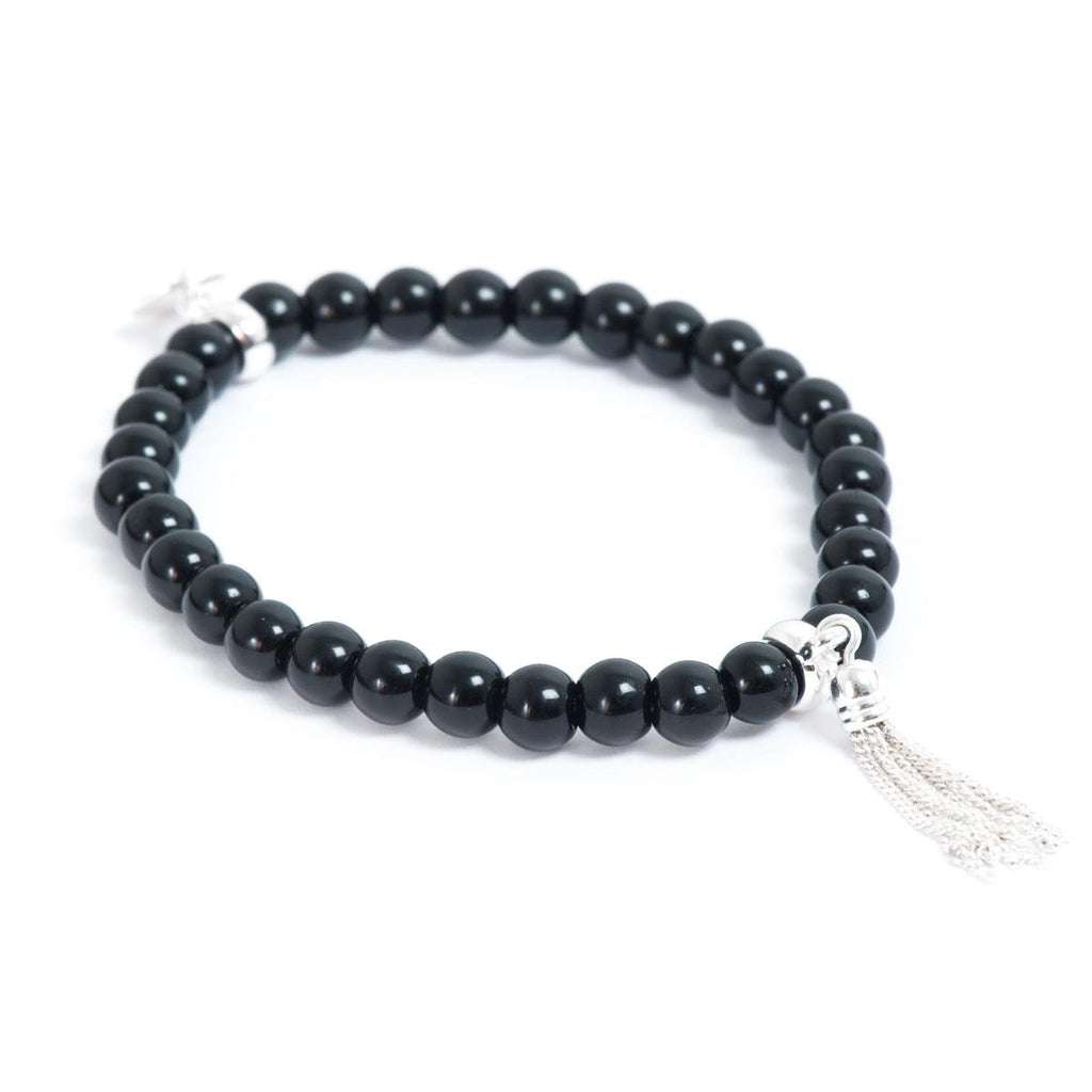 Party Tassels Black Bracelet