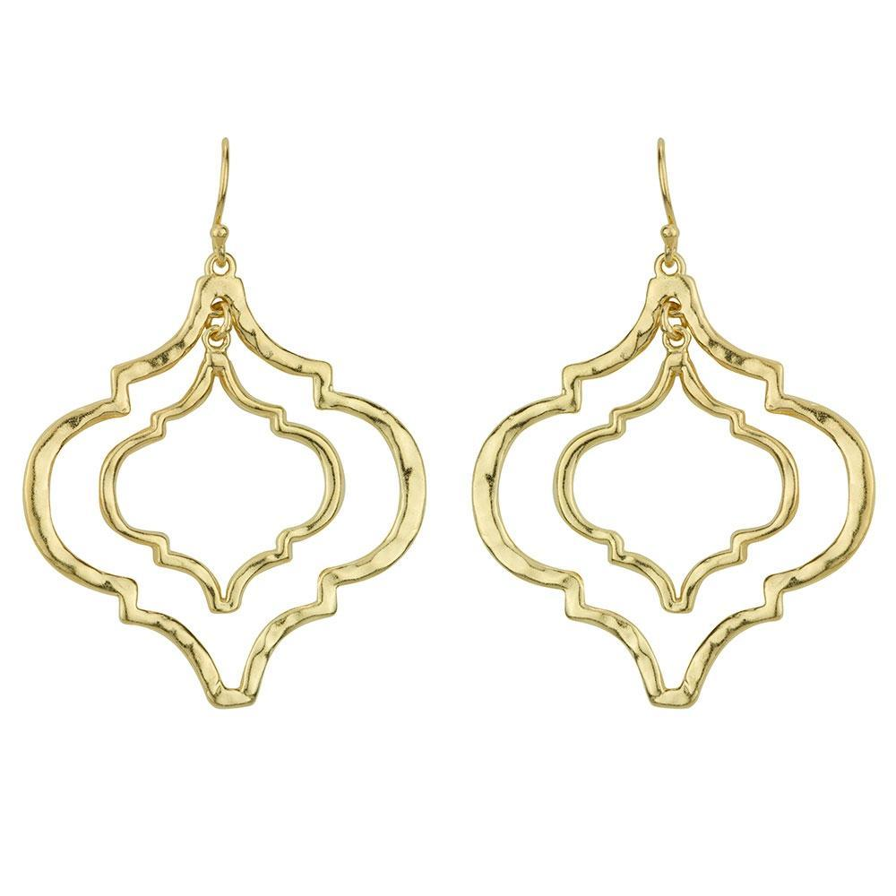 Tangiers Gold Earrings