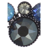 Water Cascade Blue/Brown Cluster Bracelet