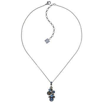 Water Cascade Blue/Brown Pendant Necklace