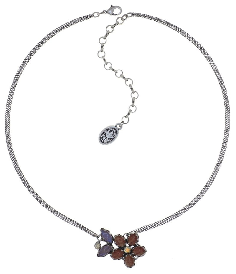 Twisted Flower Brown Necklace
