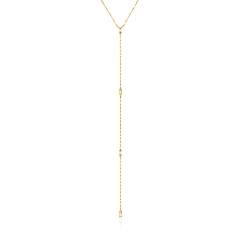 Glow Gold Y Necklace