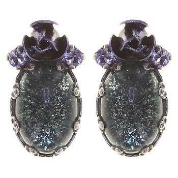 Wild Rose Blue/Lilac Earring Studs