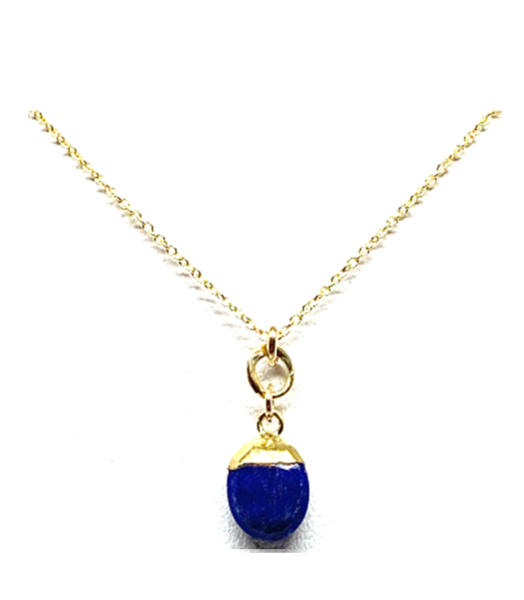 Small Oval Lapis Necklace