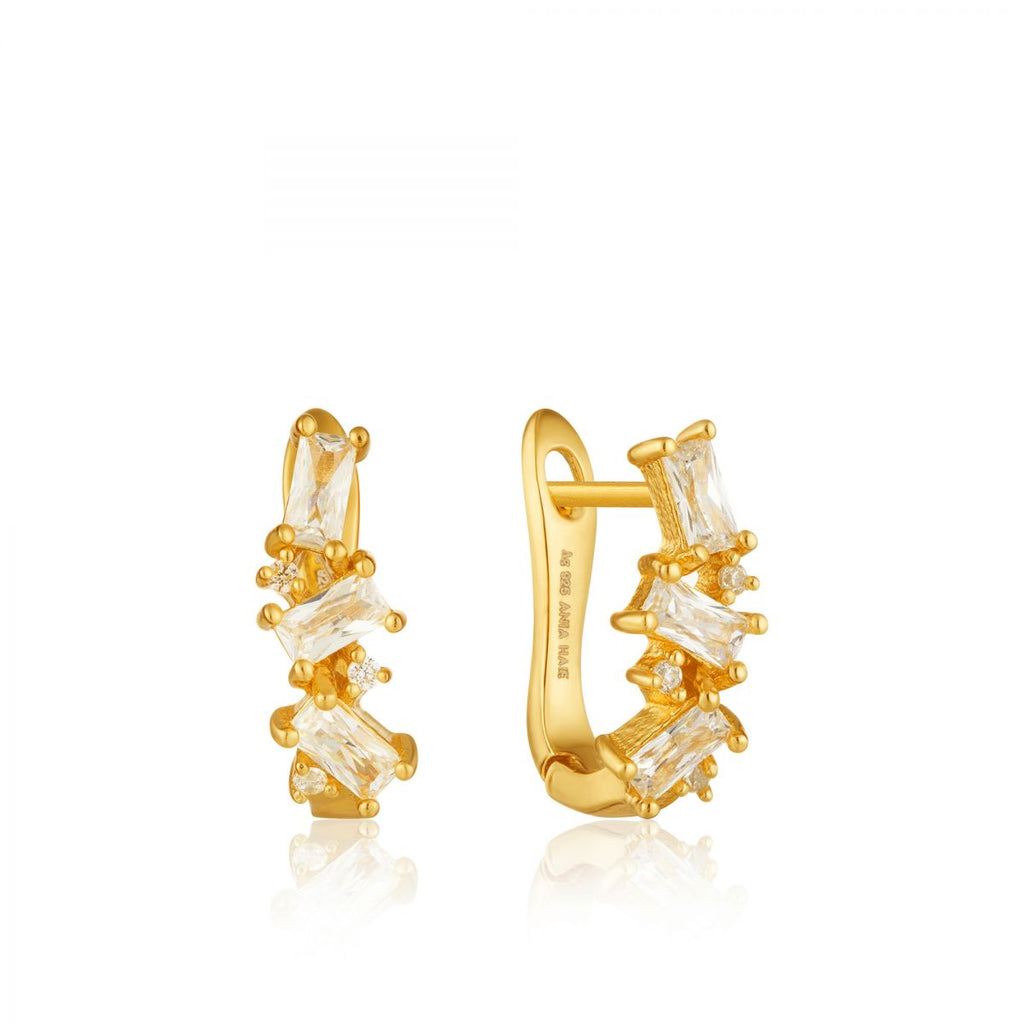 Gold Cluster Huggie Earrings