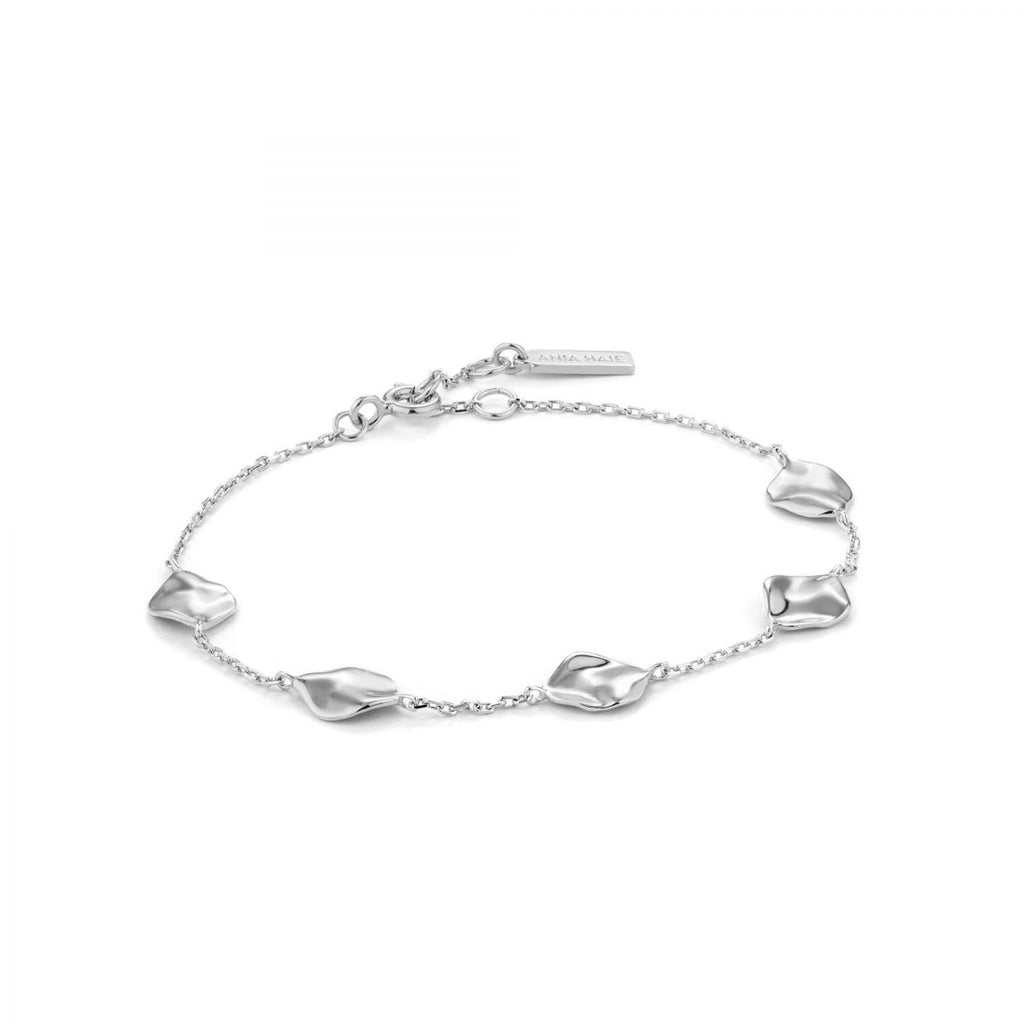 Crush Silver Multiple Discs Bracelet