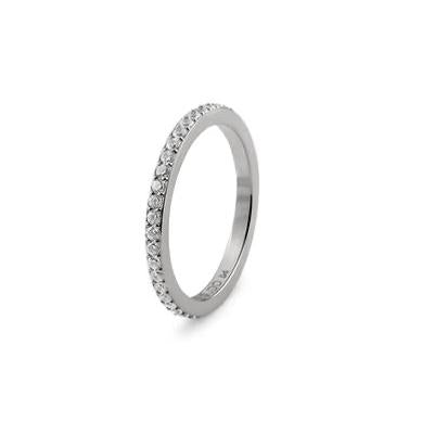 QUDO ETERNITY Spacer Ring, Silver