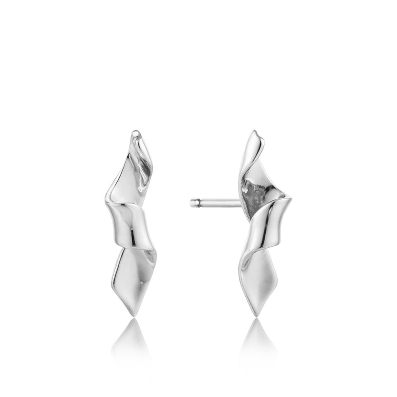 Helix Stud Earrings - Silver