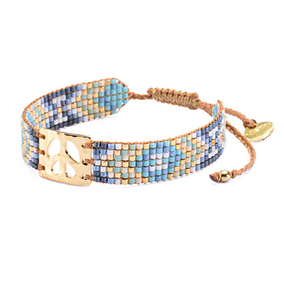 Mini Peace Aqua Blues Bracelet