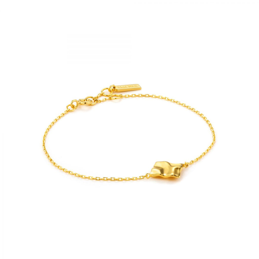 Crush Gold Square Bracelet
