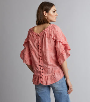Clever Heart Blouse - Final Sale Item