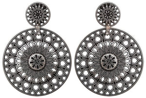 Rosone Clip Earrings