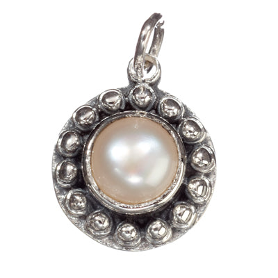 Sunflower Pearl Pendant