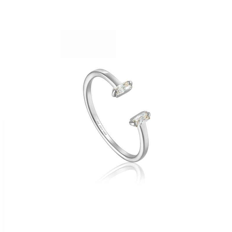 Glow Silver Adjustable Ring