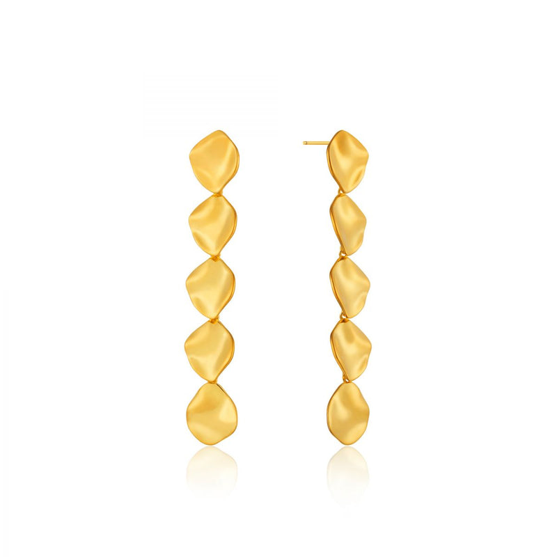 Crush Multiple Gold Discs Rop Earrings