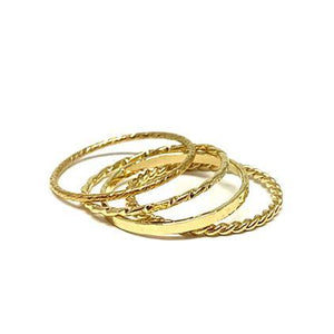Dainty 4 Stack Gold Rings