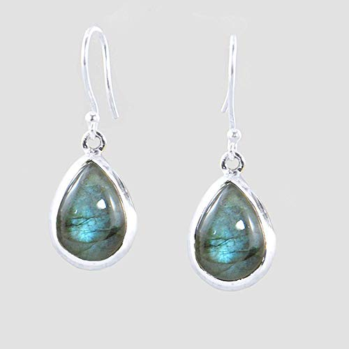 Labradorite Pear Drop Earrings