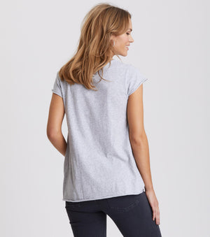 Trashin' Light Grey Melange Top