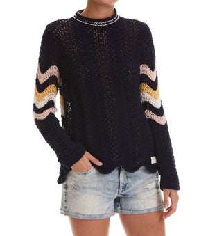 Soul Stripes Dark Blue Sweater