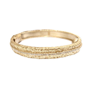 Gold Egy Crystal Line Bangle