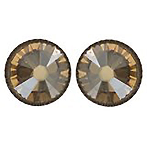 Black Jack Flat Beige Golden Shadow Earrings