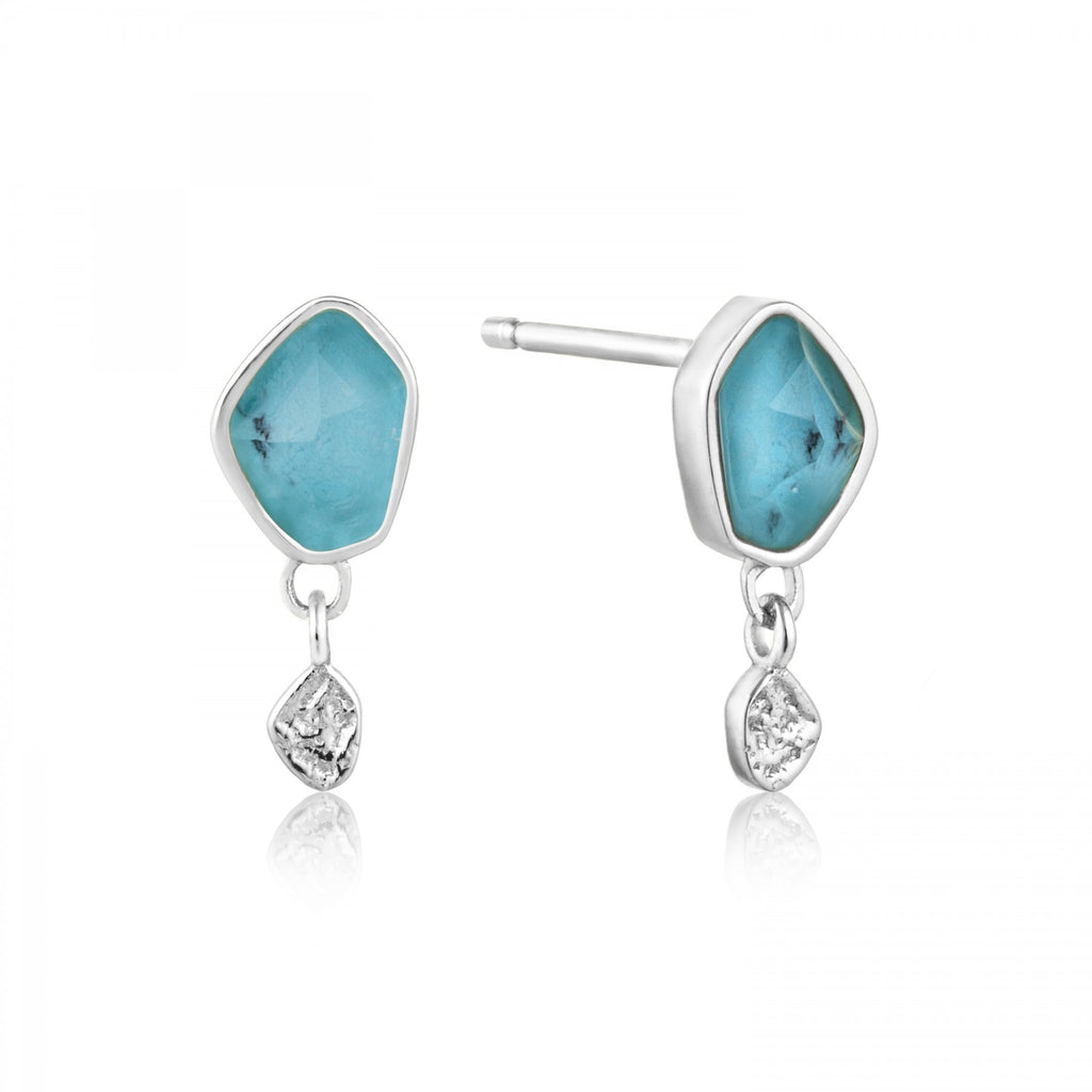 Turquoise Drop Stud Earrings