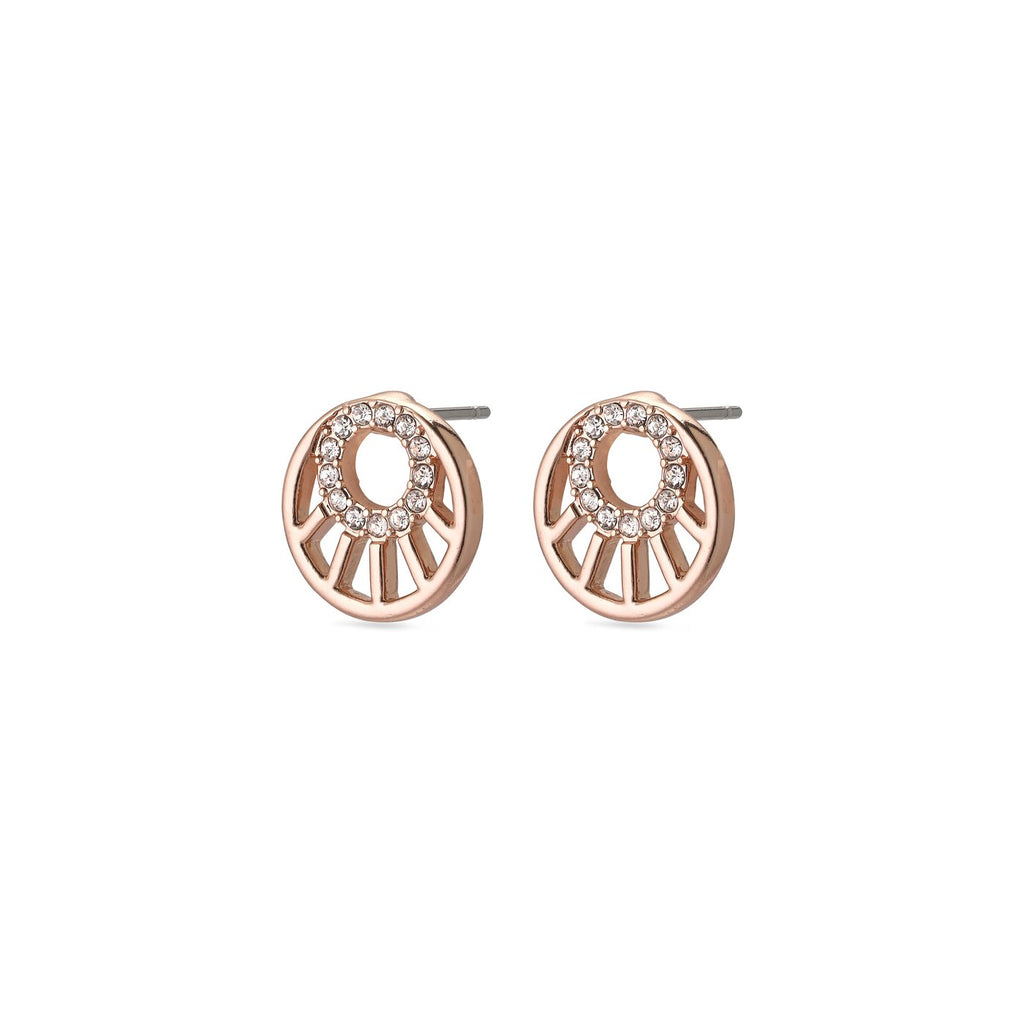 Cassie Rose Gold with Crystal Post Earrings