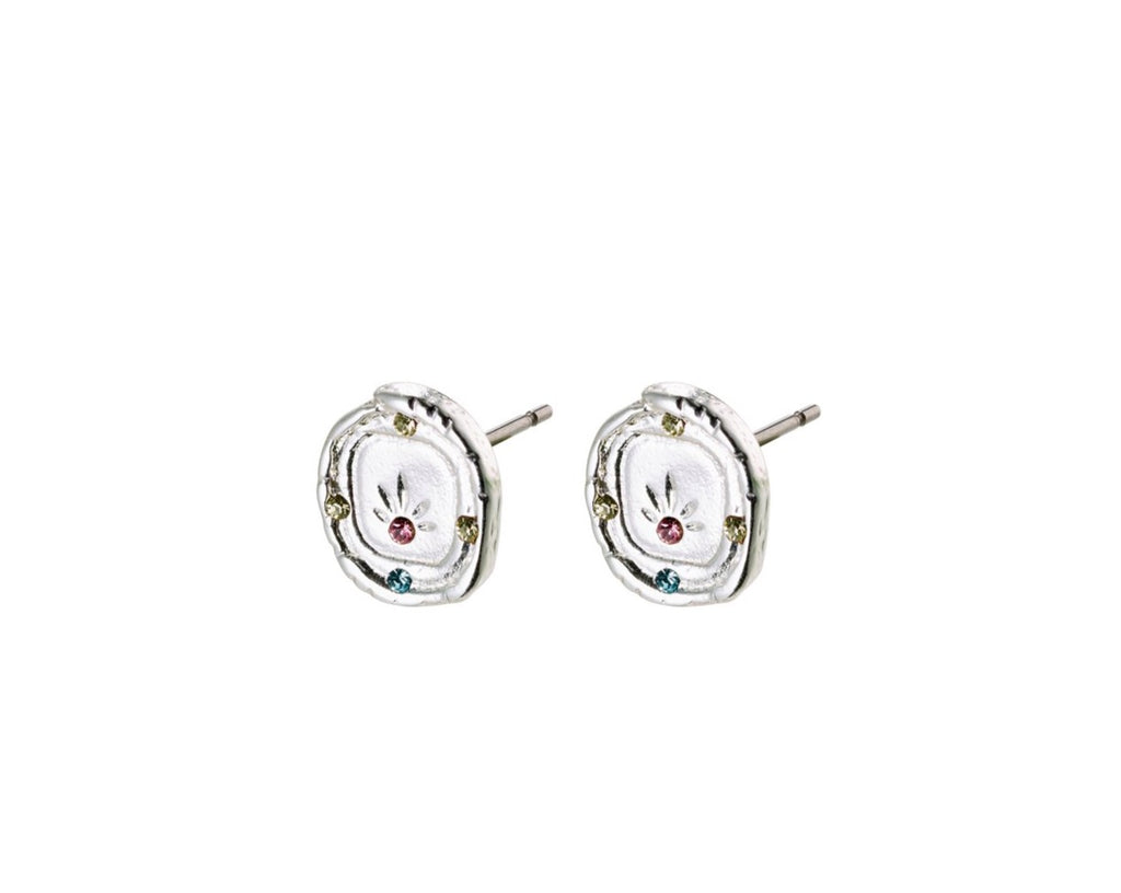 Feelings of LA Stud Earrings, Silver
