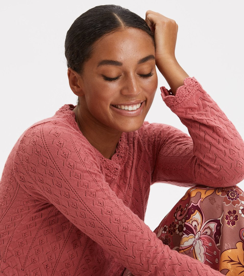 Wrap Up & Go Sweater, Dusty Strawberry