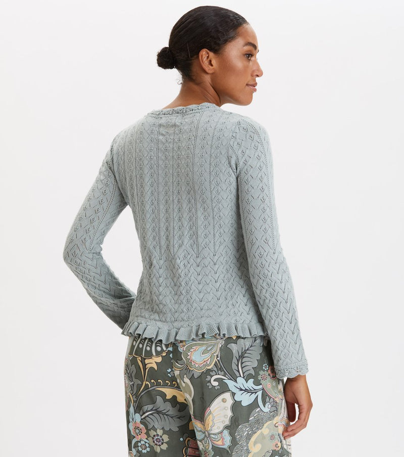 Wrap Up & Go Sweater, Misty Ocean