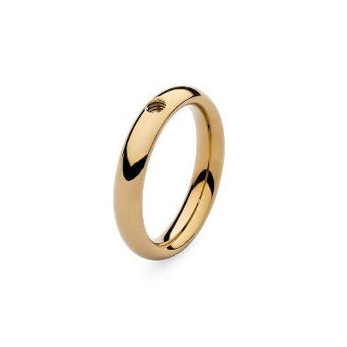 QUDO SMALL Basic Ring, Gold