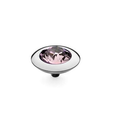QUDO Top TONDO 13mm, Light Amethyst, Silver