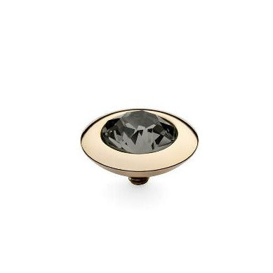 QUDO Top TONDO 13mm, Black Diamond, Gold