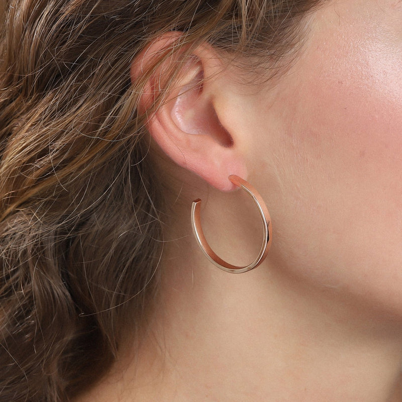 Bella Rose Gold Hoop Earrings