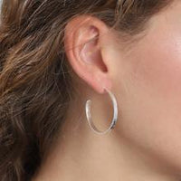 Belle Silver Hoop Earrings