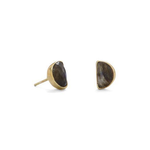 Half Moon Post Earrings