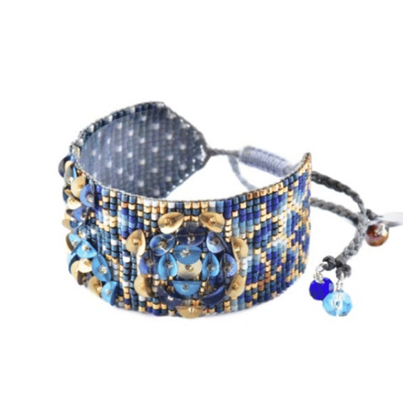 Forest Garden Medium Blue Bracelet