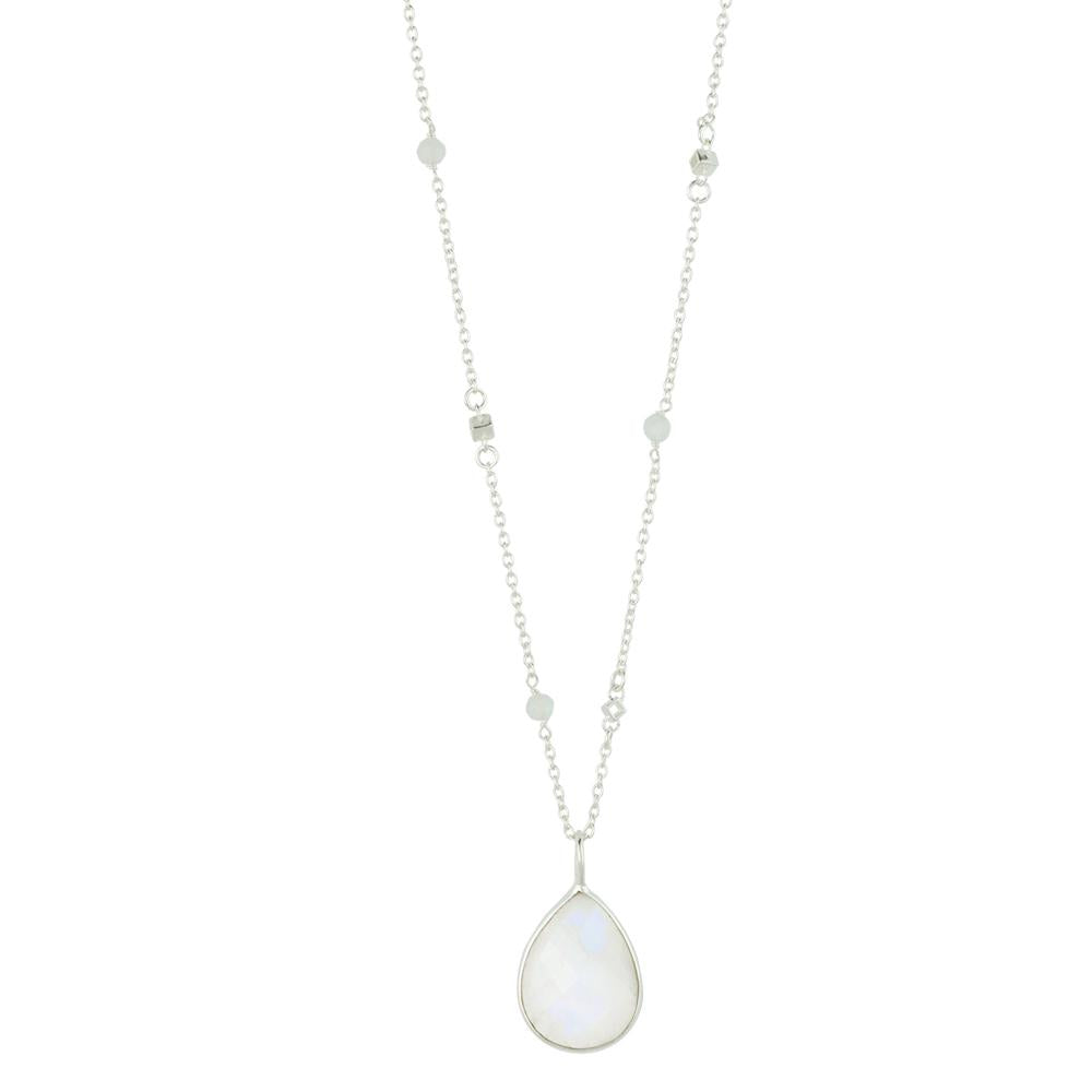 Serenity Moonstone Silver Necklace