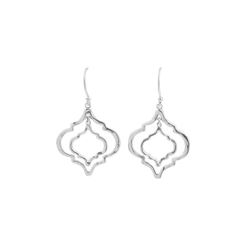 Mini Tangiers Silver Earrings