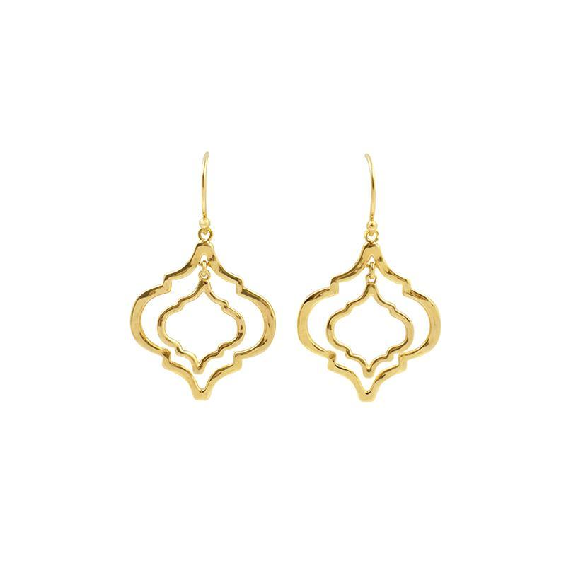 Mini Tangiers Gold Earrings